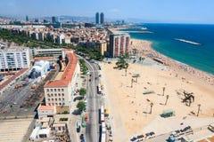 Den Barcelona antennen beskådar royaltyfria bilder