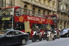 den barcelona staden turnerar Arkivbild