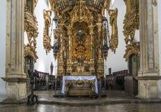 Den barocka arkitekturen av den Carmo kyrkan i Olinda Royaltyfri Fotografi
