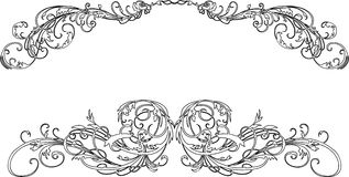 den barocka calligraphyen curves två Royaltyfri Foto