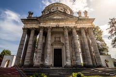 Den barocka Roman Catholic Church av exaltationen och St Joseph i Pidhirtsi royaltyfria foton
