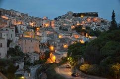 Den barocka staden av Ragusa Arkivbild