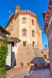 Den Barolo slotten i Piedmont, Italien royaltyfri foto