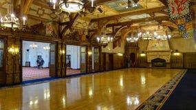 Den baron- Hallen Arkivfoto