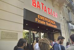 Den Bataclan teatern Royaltyfria Bilder