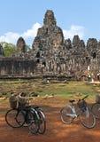 Den Bayon (Prasat Bayon) templet på Angkor i Cambodja Fotografering för Bildbyråer