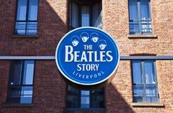 Den Beatles berättelseutställningen Fotografering för Bildbyråer