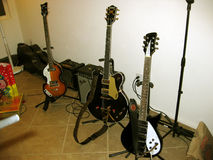 Den Beatles gitarruppsättningen Arkivbild
