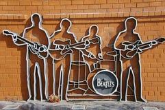 Den Beatles monumentet i Ekaterinburg Arkivbilder