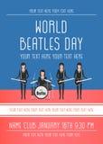 Den Beatles musikbandet Arkivfoton