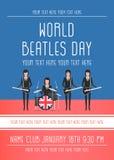 Den Beatles musikbandet Arkivfoto