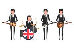 Den Beatles musikbandet Arkivbild