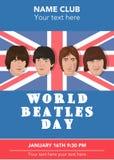 Den Beatles musikbandet Fotografering för Bildbyråer