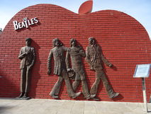 Den Beatles statyn i Mongoliet Royaltyfri Bild