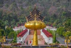 Den bedöva kungliga Flora Ratchaphruek trädgården, Thailand arkivfoton