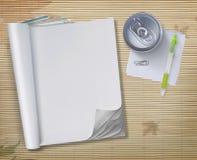 den begreppsmässiga blanka boken öppnar Arkivbilder