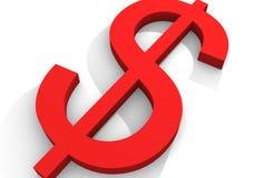 Den begreppsmässiga dollaren undertecknar Royaltyfri Bild