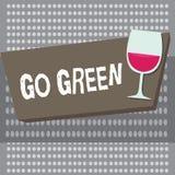 Den begreppsmässiga handhandstilvisningen går grön Affärsfoto som ställer ut göra mer miljövänlig beslut så vektor illustrationer