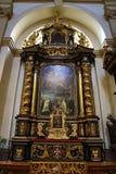 Den begynnande Jesus av Prague (tjeck: För Jezulà för PraÅ ¾ské tko ¡;), kyrktaga av vår dam royaltyfria foton