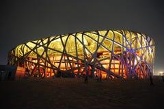 Den Beijing Nationalstadionen Arkivbilder