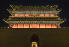 den beijing porslinporten qianmen fyrkantiga tiananmen Royaltyfri Fotografi