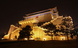 den beijing porslinporten zhengyangmen Royaltyfri Bild