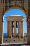 Den belägringKlocka minnesmärken i Valletta Royaltyfri Bild