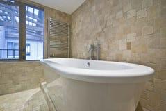 den belade med tegel baddetaljstenen badar väggar fotografering för bildbyråer