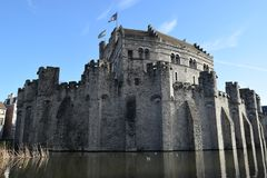 Den Belfort slotten i herren Belgien Royaltyfri Bild