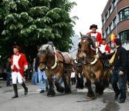 den Belgien doudouen mons ståtar Royaltyfri Bild