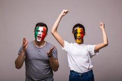 Den Belgien segern, Italien förlorar royaltyfria foton