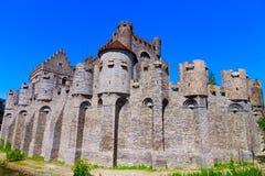 den Belgien slottgenten gravensteen royaltyfria foton