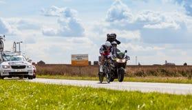 Den belgiska Cyklisten Skåpbil Håla Broeck Jurgen Fotografering för Bildbyråer