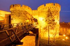 Den Belgrade fästningen och Kalemegdan parkerar arkivbilder