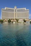 Den Bellagio hotellyttersidan i dagtid Arkivfoto