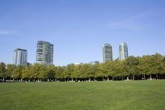 Den Bellevue staden parkerar Arkivfoto