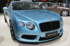 Den Bentley Continental GT V8 S bilen Royaltyfri Fotografi