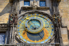 Den berömda astronomiska klockan, Prague Arkivfoton