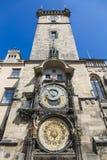 Den berömda astronomiska klockan, Prague Royaltyfri Fotografi