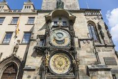 Den berömda astronomiska klockan, Prague Arkivbilder