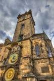 Den berömda astronomiska klockan, Prague Arkivbild