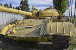 Den berömda behållaren T-55 av irakisk krigsmakt Royaltyfri Fotografi