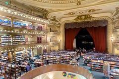 Den berömda bokhandeln El Ateneo storslagna storartade Buenos Aires Aregtina Royaltyfria Foton