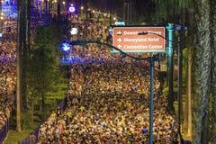 Den berömda Disneyland maraton royaltyfria bilder
