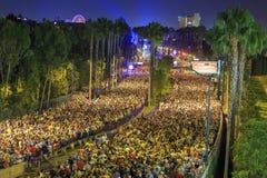 Den berömda Disneyland maraton royaltyfri fotografi