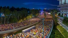 Den berömda Disneyland maraton arkivbild
