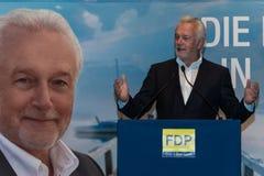 Den berömda FDP-politikern och den parlamentariska kandidaten Wolfgang Kubicki arkivbilder