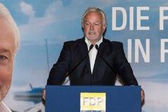 Den berömda FDP-politikern och den parlamentariska kandidaten Wolfgang Kubicki arkivbild