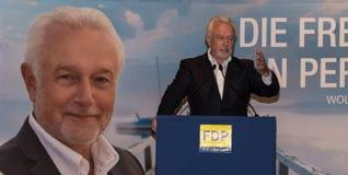 Den berömda FDP-politikern och den parlamentariska kandidaten Wolfgang Kubicki arkivfoto