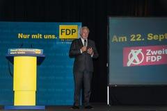 Den berömda FDP-politikern och den parlamentariska kandidaten Wolfgang Kubicki arkivfoton